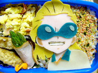 "Charaben (a decorated bento) of ""Inazuma Eleven Go"""