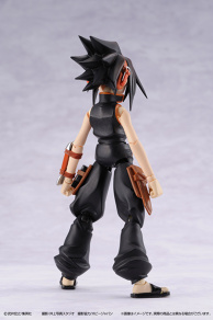 A figure of Yoh Asakura, main character of Shaman King