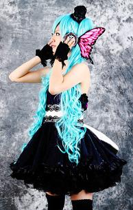 Miku Hatsune Cospley (magnet)