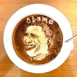 Obama and Romney Latte Art! (5/5)