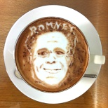 Obama and Romney Latte Art! (6/5)