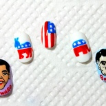 Obama and Romney Nail Art! (17/18)