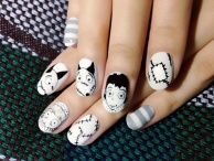 Frankenweenie Nails♪