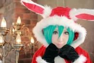 Santa cosplay Hatsunemiku
