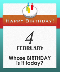 Whose BIRTHDAY is it today?