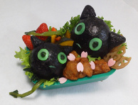 Okumura Rin and Coal Tar Bento - Blue Exorcist