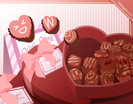 February: Choco and Hearts