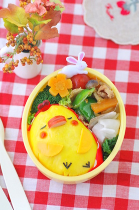 Sleeping Chick Bento