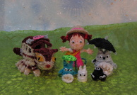 Totoro's family made from pice cleaners