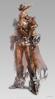 Avatar design (cowboy) male suit