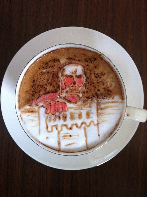 latte art ~attack on titan~