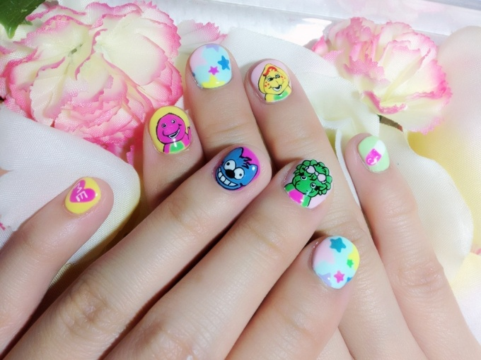 Barney & Friends and The Simpsons Nails! (1/5)