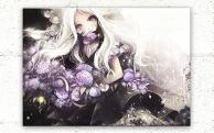 """asahiro Textile Panel Art """"Hydrangea"""""""