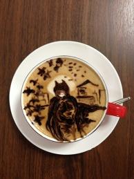 latte art~BAT MAN~