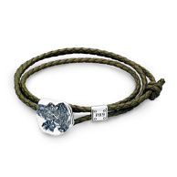 "Dr MONROE x KENJI KAMIYAMA ""Fossil of the Angel Leather bracelet / Anklet"""