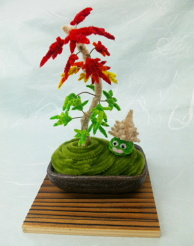 § Mini Maple Bonsai and Shell Slime §