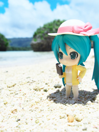 Miku on the shore