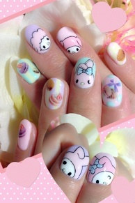 My Melody-Chan Nail Art♪