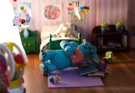 Sulley and Boo from Monsters Inc.