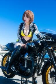 moto girl nene×Kawasaki W800