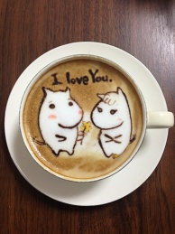 latte art~I love You~