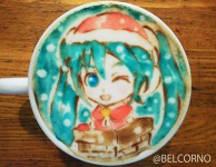 Latte Art [Hatsune Miku] Christmas Version