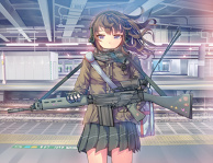 Armed High School Girl