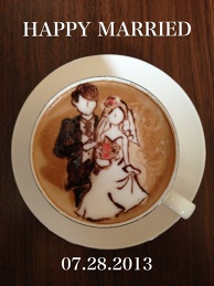 latte art~Happy Wedding~