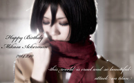Happy Birthday Mikasa*