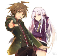 Naegi and Kirigiri