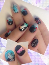Hatsune Miku Nails