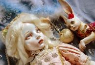 Young Lady Aqua and a Wooden Rabbit