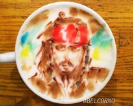 Latte Art [Jack Sparrow] Pirates of the Caribbean