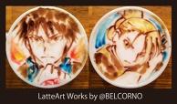 Latte Art [Roy Mustang & Riza Hawkeye] Fullmetal Alchemist