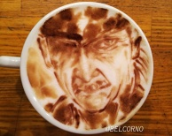 Latte Art [Old Snake] Metal Gear Solid