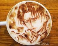 Latte Art [Levi] Attack on Titan