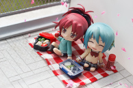 Lunch with Sayaka Miki and Kyouko Sakura