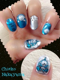 Ghost in the Shell Nails
