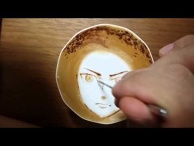 "Today's Leisure Time Cappuccino, ""Eren @Attack on Titan"""