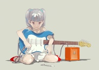 a small guitarist