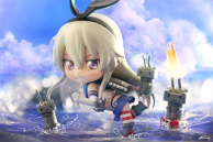 Shimakaze, engaging in shelling.