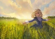 a barley field
