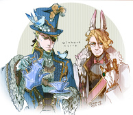 mad hatter and white rabbit