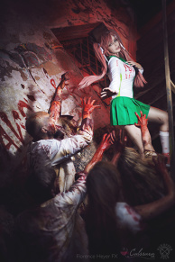 Saya Takagi (Highschool of the Dead) Cosplay by Calssara