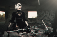 2B (Nier Automata) Cosplay By Calssara