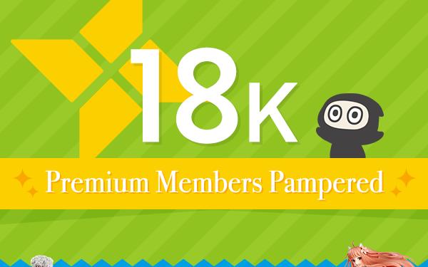 18K Premium Members Pampered
