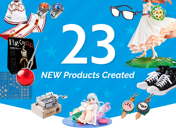 23 NEW Products Created