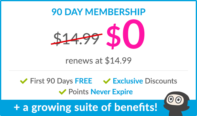 Limited Offer! EARLY BIRD SIGNUP: $0. renews every 90 days at $14.99