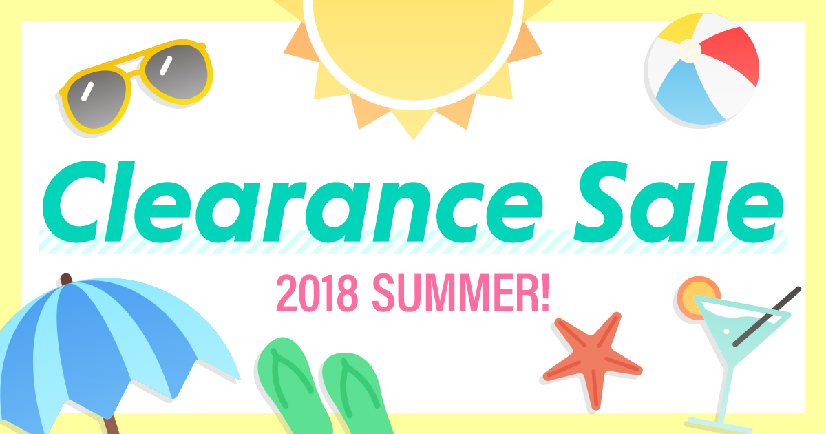 Clearance Sale 2018 Summer!