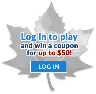 Sign in to play and win a coupon for up to $50!